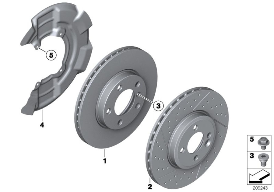 2006 Mini Cooper Brake Disc  Ventilated  280x22