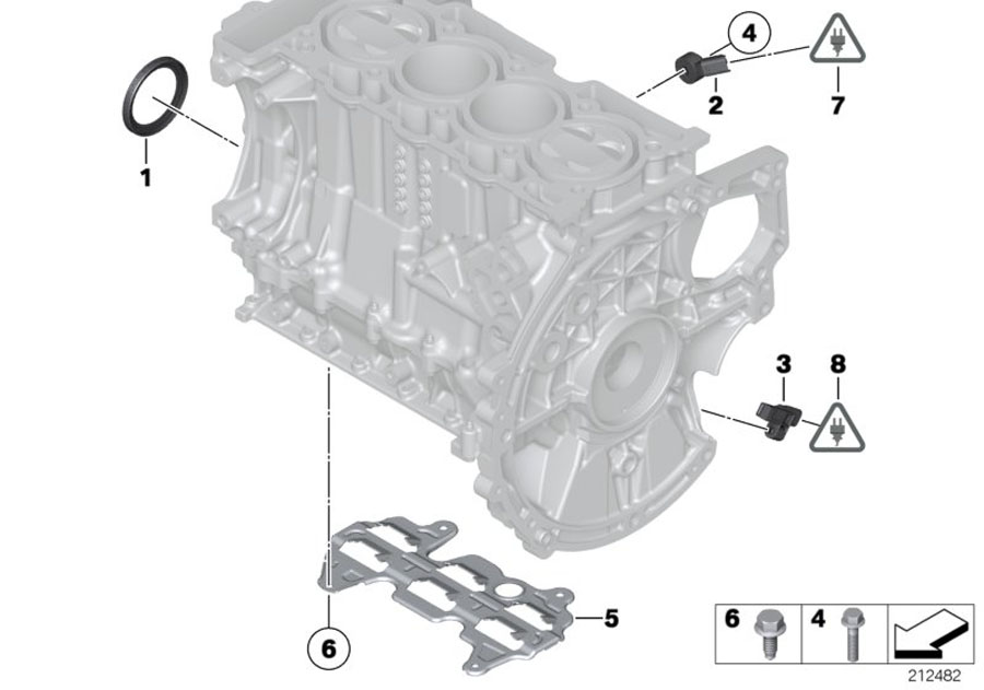 2013 Mini Countryman S Crankshaft Sensor  Works