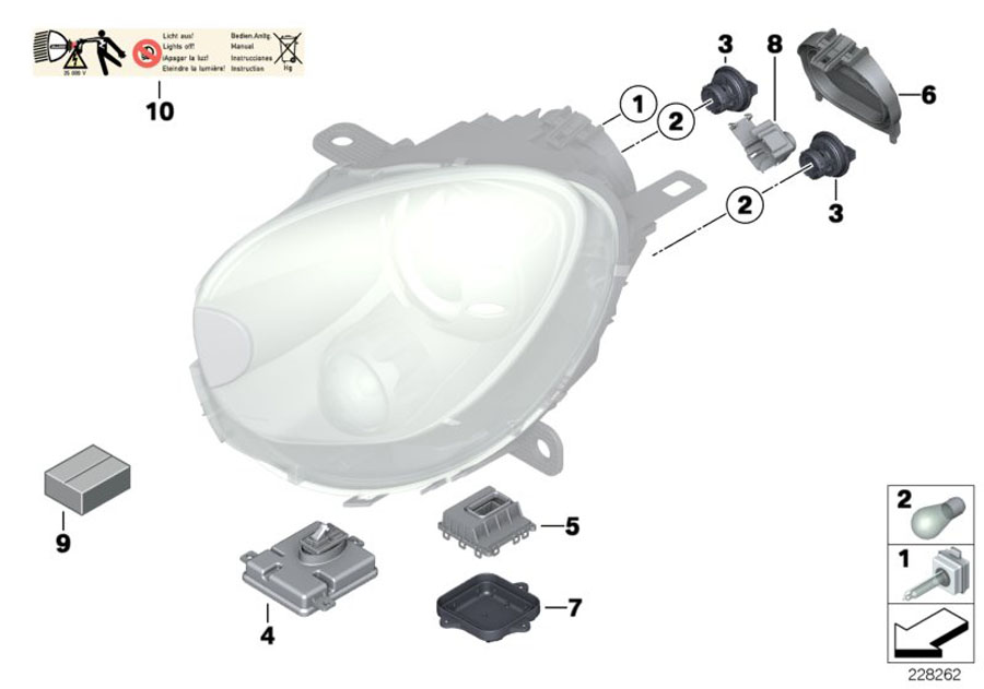 2011 mini cooper convertible lamp cover low beam. Black Bedroom Furniture Sets. Home Design Ideas