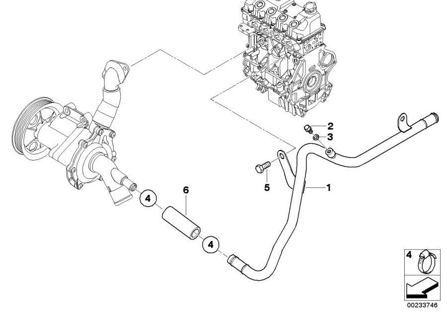 2006 Mini Cooper Coolant Line  Engine  Cooling