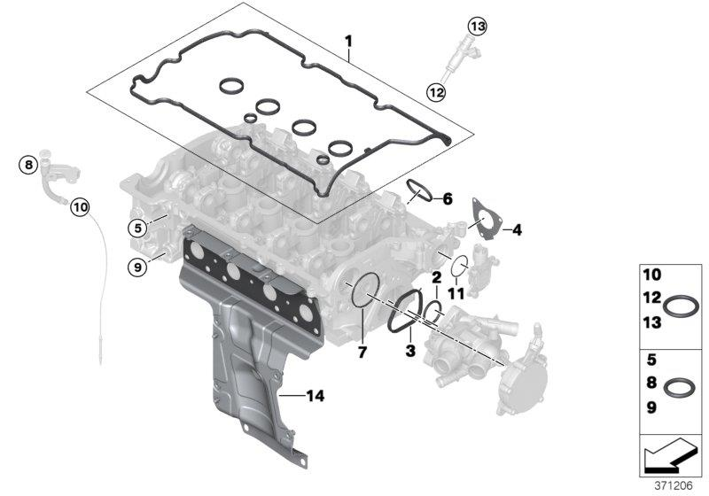 Mini Cooper Clubman Set Of Profile Gaskets  Convertible  Cylinder  Head