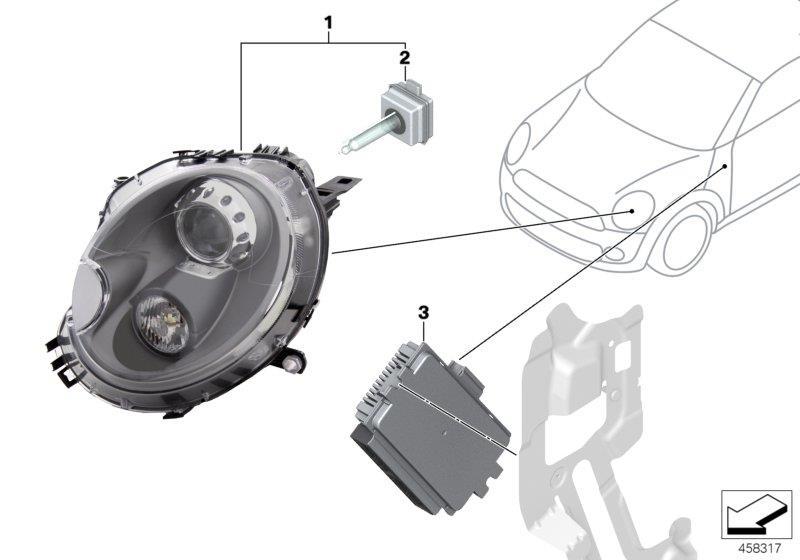 2011 Mini Cooper Footwell Module 3  Works  Convertible