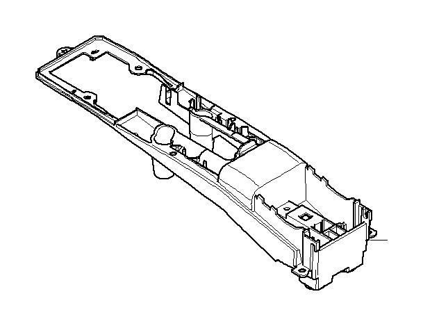 2005 mini cooper s bracket  handbrake console  rear  works