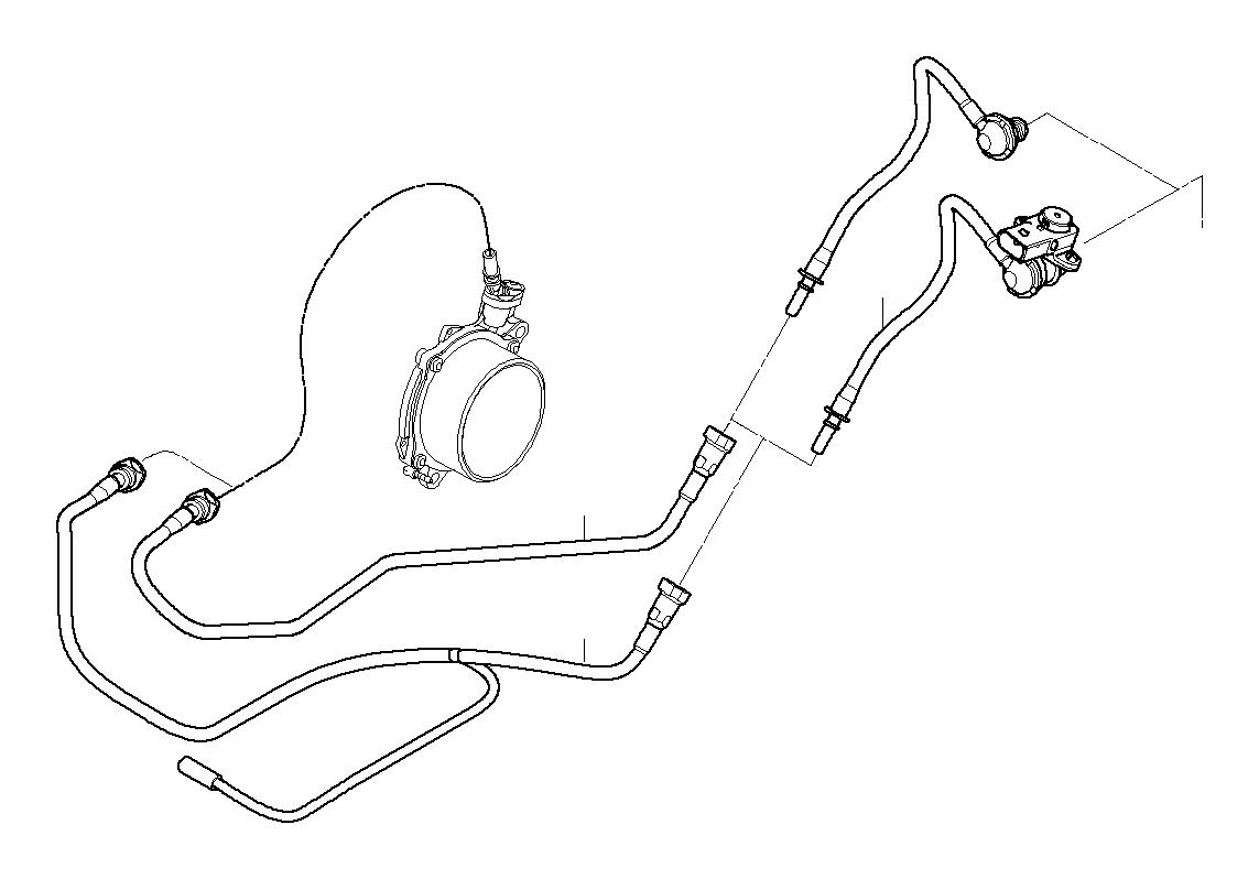 2009 Mini Cooper S Vacuum Line With Pressure Sensor  Unit